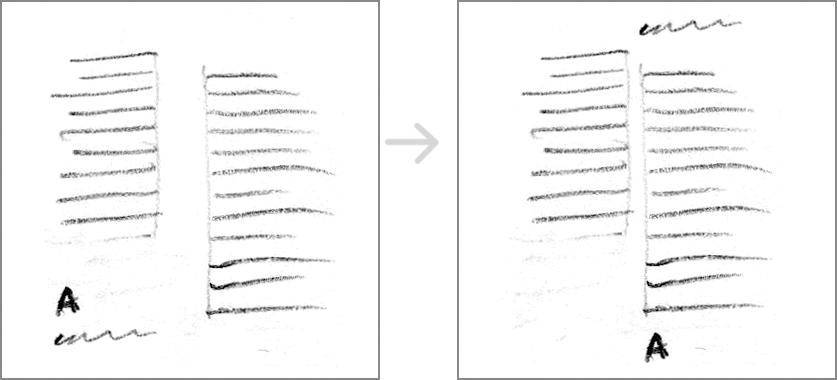 Emphasize vertical line.