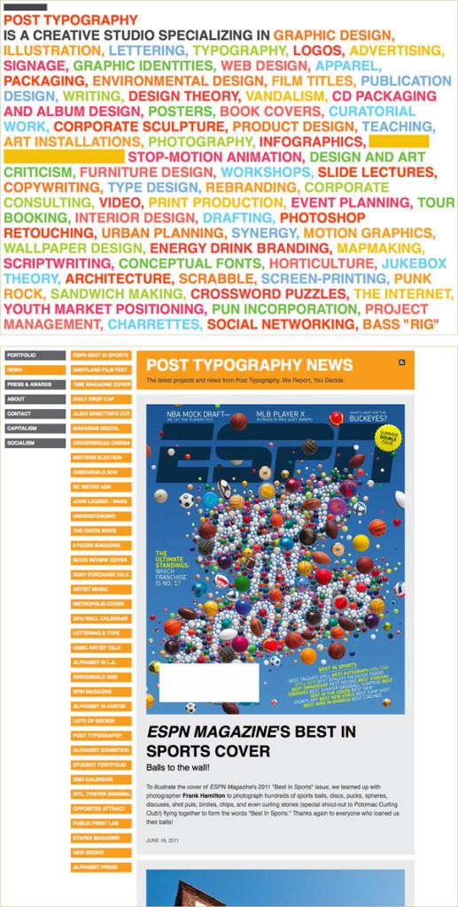 Post modern web page