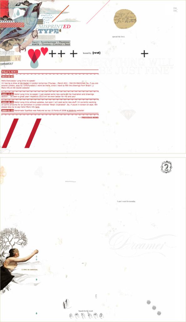 postmodern web page