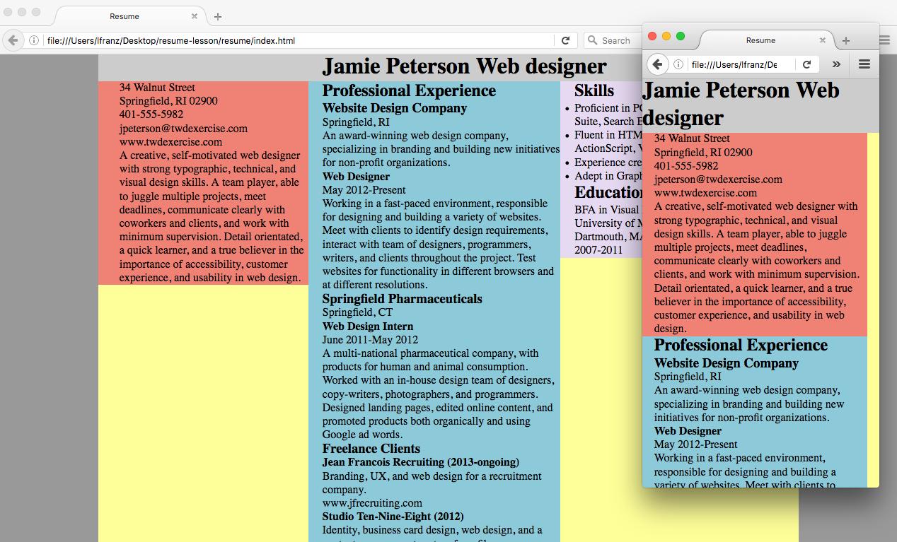 Exercise Resume Set Complex Text Typographic Web Design 3