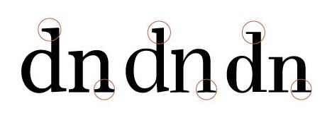 Compare serifs