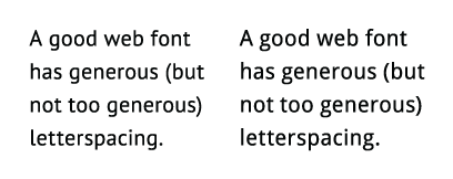 Comparing text fonts